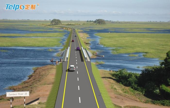 赞比亚总统亲身体验TPS900,为高速公路和经济提速