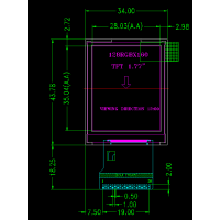 1.77寸a-Si TFT LCD液晶显示屏