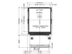 2.8寸a-Si TFT LCD液晶显示屏