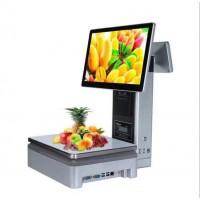 商超零售水果店称重电子电脑秤一体机单屏双屏